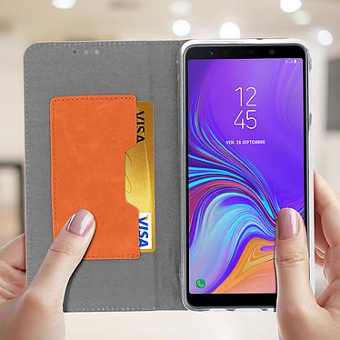 Acheter Avizar Etui folio Gris pour Samsung Galaxy A7 2018