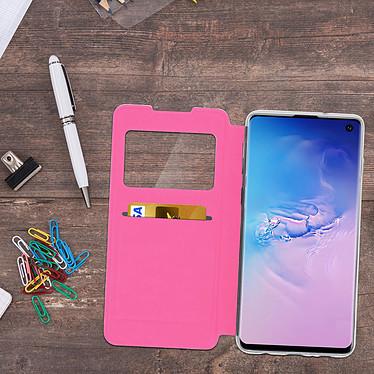 Acheter Avizar Etui folio Fuchsia Éco-cuir pour Samsung Galaxy S10