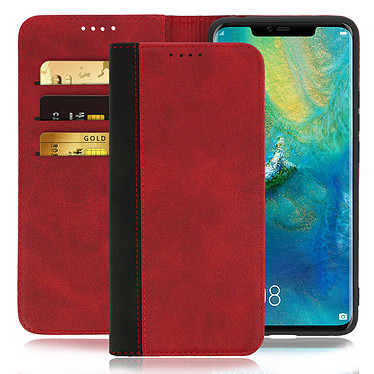 Avizar Etui folio Rouge Éco-cuir pour Huawei Mate 20 Pro pas cher
