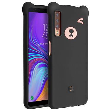 Avizar Coque Noir Design Nounours pour Samsung Galaxy A7 2018 Coque Noir design nounours Samsung Galaxy A7 2018