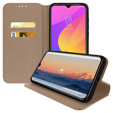 Avizar Etui folio Dorée pour Xiaomi Mi 9 Lite pas cher