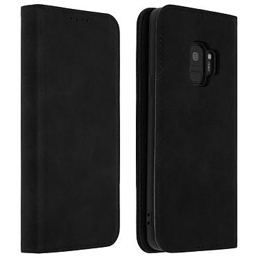 Avizar Etui folio Noir pour Samsung Galaxy S9 Etui folio Noir Samsung Galaxy S9