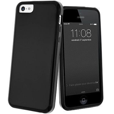 Avizar Coque Noir pour Apple iPhone 5C Coque Noir Apple iPhone 5C
