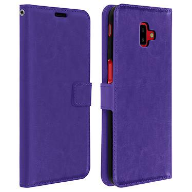 Avizar Etui folio Violet pour Samsung Galaxy J6 Plus Etui folio Violet Samsung Galaxy J6 Plus