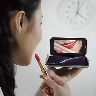 Acheter Avizar Etui folio Noir Miroir pour Apple iPhone XR