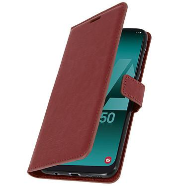 Avizar Etui folio Marron pour Samsung Galaxy A50 , Samsung Galaxy A30s pas cher