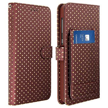 Avizar Etui folio Marron pour Smartphones de 5.3' à 5.5' Etui folio Marron Smartphones de 5.3' à 5.5'
