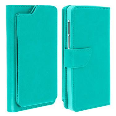 Avizar Etui folio Vert pour Compatibles avec Smartphones de 5,3 à 5,5 pouces Etui folio Vert Compatibles avec Smartphones de 5,3 à 5,5 pouces