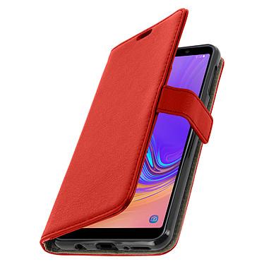 Avizar Etui folio Rouge pour Samsung Galaxy A7 2018 pas cher