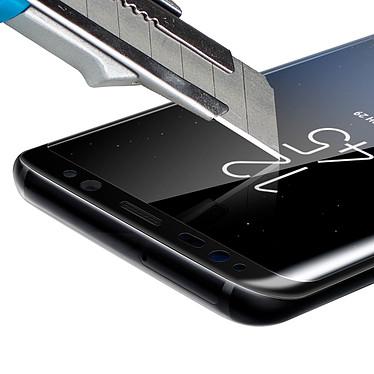 Avizar Film verre trempé Noir pour Samsung Galaxy S8 Plus pas cher