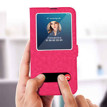 Acheter Avizar Etui folio Rose pour Samsung Galaxy M20