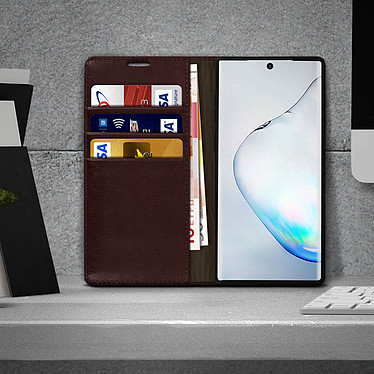 Acheter Avizar Etui folio Marron pour Samsung Galaxy Note 10 Plus