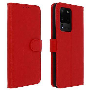Avizar Etui folio Rouge pour Samsung Galaxy S20 Ultra Etui folio Rouge Samsung Galaxy S20 Ultra