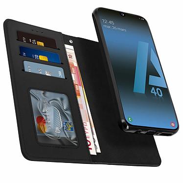 Avizar Etui folio Noir pour Samsung Galaxy A40 pas cher
