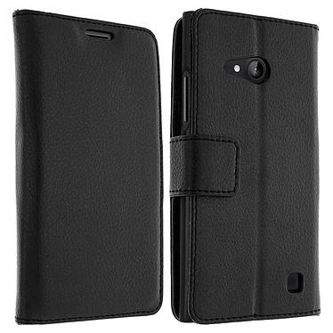 Avizar Etui folio Noir pour Nokia Lumia 735 , Nokia Lumia 730 Etui folio Noir Nokia Lumia 735 , Nokia Lumia 730