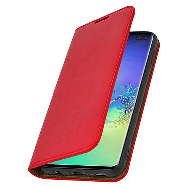 Avizar Etui folio Rouge pour Samsung Galaxy S10 Plus pas cher