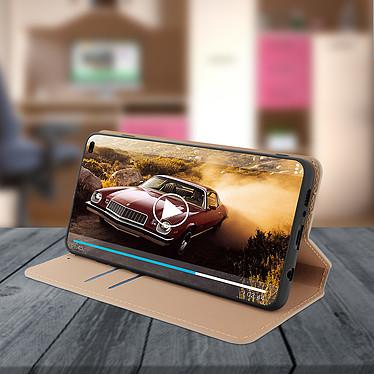 Avis Avizar Etui folio Dorée Éco-cuir pour Samsung Galaxy S10 Plus