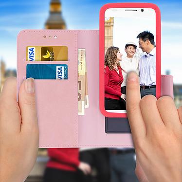 Acheter Avizar Etui folio Rose pour Tous les smartphones jusqu'à 6 pouces