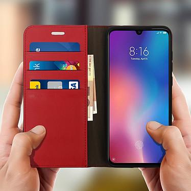Acheter Avizar Etui folio Rouge Cuir véritable pour Xiaomi Mi 9