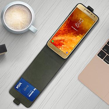 Avis Avizar Etui à clapet Noir pour Samsung Galaxy J4 Plus