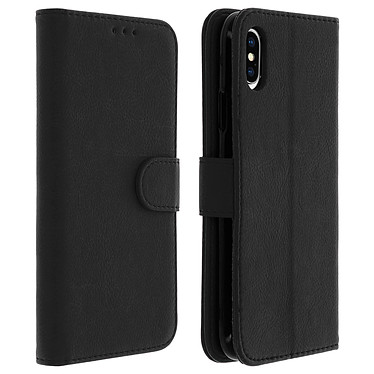 Avizar Etui folio Noir Portefeuille pour Apple iPhone XS Max Etui folio Noir portefeuille Apple iPhone XS Max