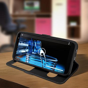 Avis Avizar Etui folio Noir à fenêtre pour Samsung Galaxy J6