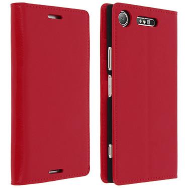 Avizar Etui folio Rouge pour Sony Xperia XZ1 pas cher