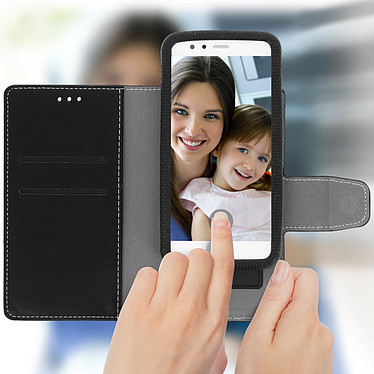 Avizar Etui folio Noir pour Smartphones de 5.0' à 5.5' pas cher