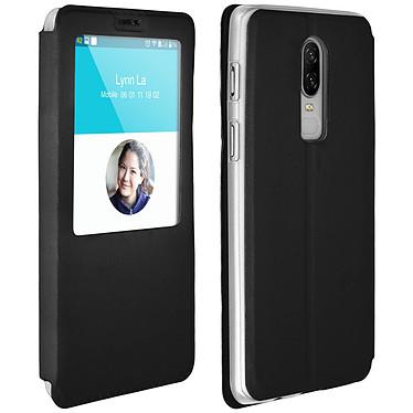 Avizar Etui folio Noir pour OnePlus 6 Etui folio Noir OnePlus 6