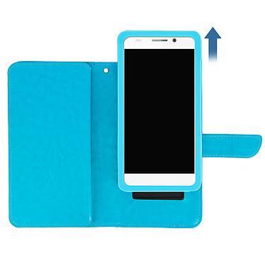 Avis Avizar Etui folio Turquoise pour Smartphones de 5.3' à 5.5'