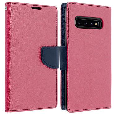 Avizar Etui folio Fuchsia pour Samsung Galaxy S10 Etui folio Fuchsia Samsung Galaxy S10