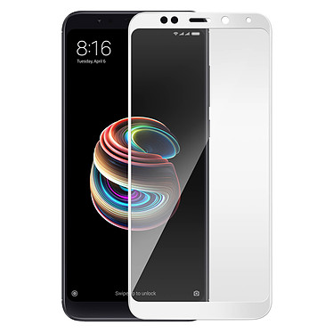 Avizar Film verre trempé Blanc pour Xiaomi Redmi 5 Plus pas cher