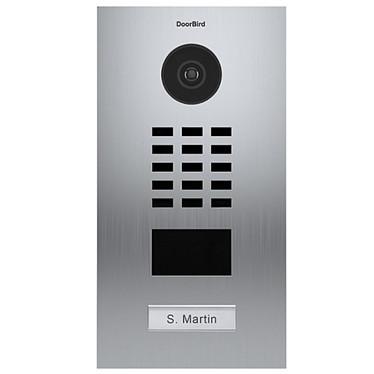 DoorBird Portier Vidéo Connecté Encastré 1 Bouton D2101v DOO_D2101V Interphone vidéo encastré 1 bouton 12/24 VDC DoorBird