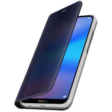 Avizar Etui folio Noir pour Huawei P20 Lite pas cher