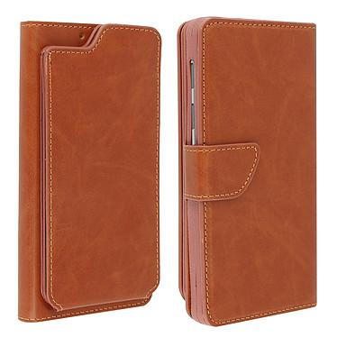 Avizar Etui folio Camel pour Compatibles avec Smartphones de 5,0 à 5,3 pouces Etui folio Camel Compatibles avec Smartphones de 5,0 à 5,3 pouces