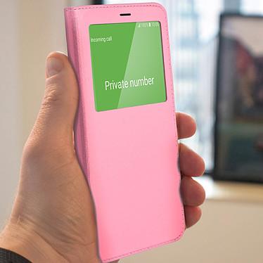 Avis Avizar Etui folio Rose pour Samsung Galaxy J6 Plus