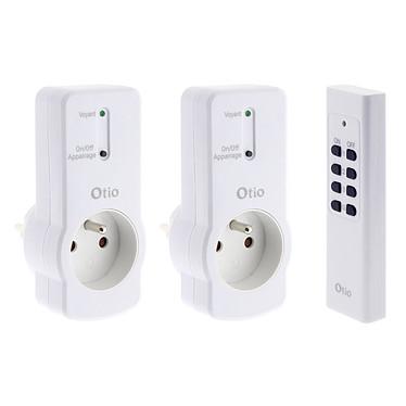 Otio Lot de 2 prises 16A 2P+T télécommandées avec télécommande Lot de 2 prises 16A 2P+T télécommandées avec télécommande - Otio