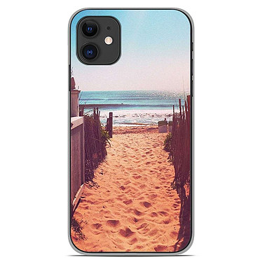 1001 Coques Coque silicone gel Apple iPhone 11 motif Chemin de plage Coque silicone gel Apple iPhone 11 motif Chemin de plage