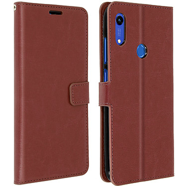 Avizar Etui folio Marron pour Huawei Y6 2019,Honor 8A Etui folio Marron Huawei Y6 2019,Honor 8A