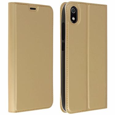 Avizar Etui folio Dorée Éco-cuir pour Xiaomi Redmi 7A Etui folio Dorée éco-cuir Xaomi Redmi 7A