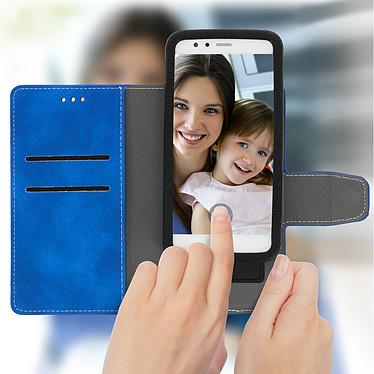 Avizar Etui folio Bleu pour Smartphones de 5.0' à 5.5' pas cher