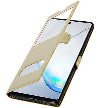 Avizar Etui folio Dorée pour Samsung Galaxy Note 10 Plus pas cher