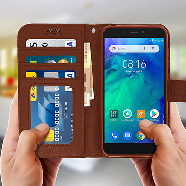 Acheter Avizar Etui folio Marron pour Xiaomi Redmi Go