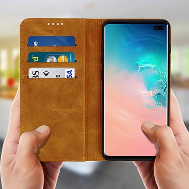 Acheter Avizar Etui folio Camel Vieilli pour Samsung Galaxy S10 Plus