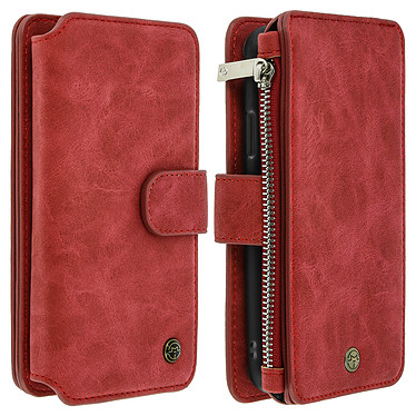 Avizar Etui folio Rouge pour Apple iPhone X , Apple iPhone XS Etui folio Rouge Apple iPhone X , Apple iPhone XS