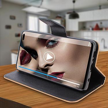 Avis Avizar Etui folio Dorée Fancy Style pour Samsung Galaxy S10 Plus