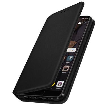 Avizar Etui folio Noir Éco-cuir pour Huawei P20 Etui folio Noir éco-cuir Huawei P20
