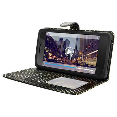 Avizar Etui folio Noir pour Smartphones de 5.3' à 5.5' pas cher