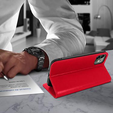 Avis Avizar Etui folio Rouge Cuir véritable pour Apple iPhone 11