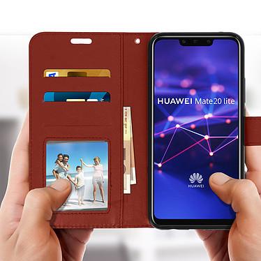 Acheter Avizar Etui folio Marron pour Huawei Mate 20 lite